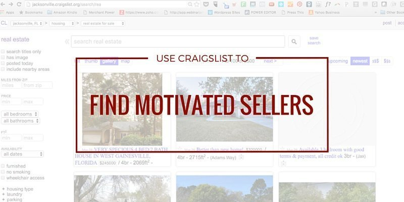 Craigslist ads that find motivated sellers property mob pronofoot35fo Images