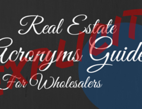 Real Estate Acronyms Guide for Wholesalers [Explicit]