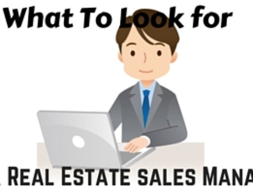 What To Look For in a Real Estate Sales Manager