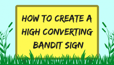 high converting bandit sign