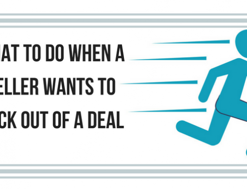 What to do if the seller wants to back out of the deal?
