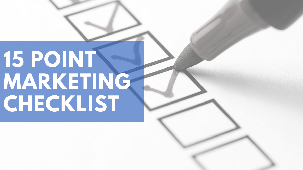 15 Point Marketing Checklist