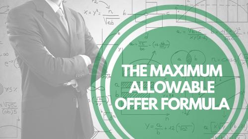 Maximum Allowable Offer Formula